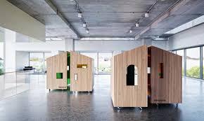 Open Plan Office Furniture by Dymitr Malcew U0027s Tree House Modules Provide Privacy In Open Plan