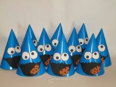 cookie monster centerpiece party picks by festivebymail on etsy
