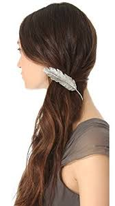 hair accessories india buy party wear fancy stylish silver feather hair clip for