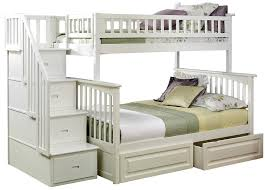 Twin Beds With Drawers Amazon Com Columbia Staircase Bunk Bed With 2 Raised Panel Bed