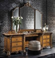 Vanity Folding Mirror Bathroom Vanity With Makeup Table Fresca Bellezza Natural Wood