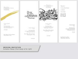 invitation design programs invitation event program design graphic design portfolio