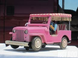 pink toy jeep collectible toy cars scale down rod network