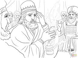 uzziah strucked with leprosy coloring page free printable
