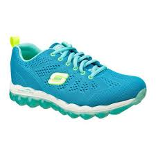 womens skechers boots sale skechers skech air inspire casual shoes in blue lime for