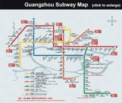 Guangzhou China Map by Guangzhou Subway Map Travel Map Vacations Travelsfinders Com