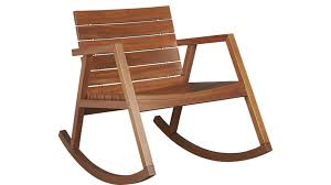 valalta outdoor wooden rocking chair cb2