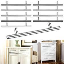 Kitchen Cabinet Door Handles Kitchen Cabinet Door Handles 8 T Bar Brushed Stainless Steel