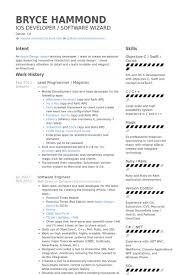 programmer resume template programmer resume samples visualcv