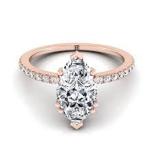 marquise diamond engagement ring marquise diamond prong engagement ring 14k gold rockher