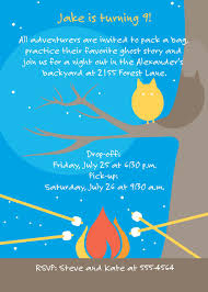 camp out invitations ideas juvenile invitations from pen at hand