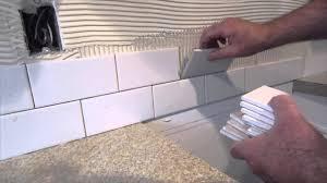 Ceramic Tile Kitchen Backsplash by Kitchen How To Install Glass Tile Kitchen Backsplash Youtube