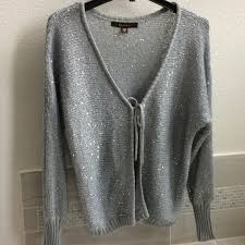 silver cardigan sweater 62 fever sweaters silver cardigan from maianh s closet on