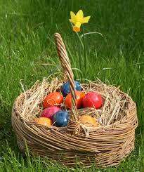 easter eggs wallpapers basket full of easter eggs wallpaper hd wallpapers