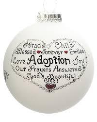adoption personalized ornament