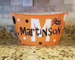 halloween candy bowl etsy