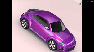 volkswagen beetle purple vw beetle pink edition concept 2015 3d model from creativecrash