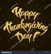 happy thanksgiving day gold glitter stock vector 343213211