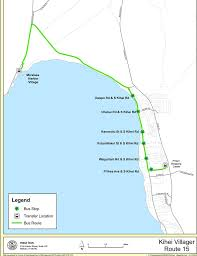 Bus Route Map by Maui Bus System Maplets