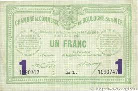 chambre de commerce boulogne 1 franc régionalisme et divers boulogne sur mer 1914 jp