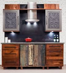 distressed wood kitchen cabinets kitchen cabinets from reclaimed wood by inde art design house bec