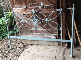 wrought iron bed head brass knobs double bed in canterbury kent