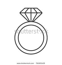 thin line wedding ring wedding rings linear icon thin line stock vector 576010090