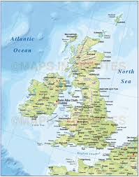 Map Of England With Cities by Digital Vector British Isles Uk Map Basic Country With Regular