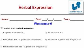 maths worksheets algebraic expressions class 7 cbse icse