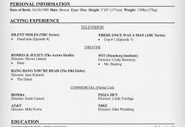 Beginner Acting Resume Template Model Resume Template 5 Free Word Document Free Resume