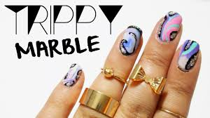 hellomaphie music festival nails trippy marble design