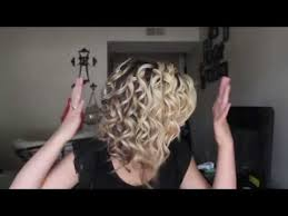 wanded hairstyles tutorial curling short medium hair with a wand youtube