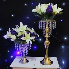 fashion luxxury wedding table centerpieces metal flower vase