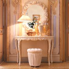 rose gold console table ornate rose design italian table l juliettes interiors