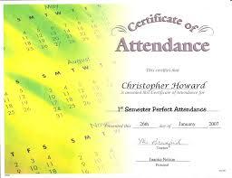 perfect attendance award description crown certificates perfect