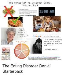 Eating Disorder Meme - the binge eating disorder denial starter pack a how to be anorexic