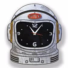 buy astronaut space suite helmet wooden wall clock at woodandroot