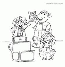 free barney coloring pages print kids 32751