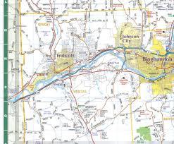 Binghamton University Map Binghamton U0026 Broome Co Paper Wall Map Jimapco