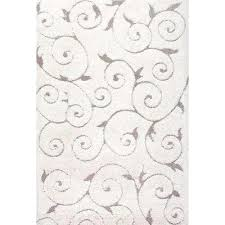 Cream And Black Rugs Shag Area Rugs Rugs The Home Depot