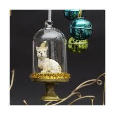 west highland terrier glass bauble westie decorations