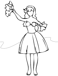 hula coloring pages getcoloringpages com