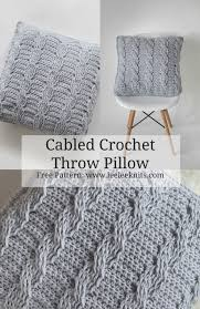 knit home decor crochet cabled throw pillow pattern leelee knits