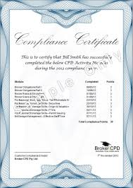 broker cpd sample certificate