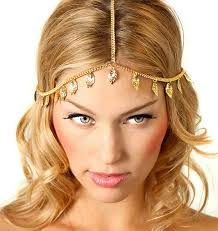 chain headband new leaf drop tassel hair chain headband accessory headpiece