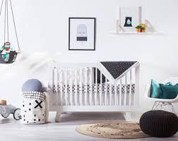 Black And White Crib Bedding For Boys Modern Crib Bedding Etsy