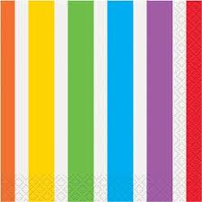 rainbow beverage napkins 16ct walmart