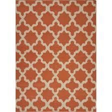 jaipur rug10280 maroc flat weave moroccan pattern wool orange