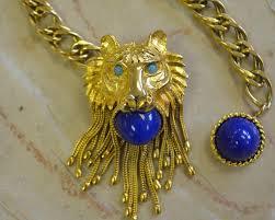 pauline rader necklace vintage pauline rader lion belt convertible belt lion