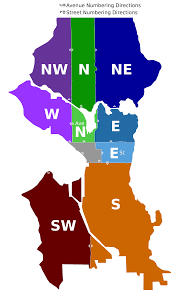 Seattle County Map by File Seattle Wa Directional Zones Svg Wikimedia Commons